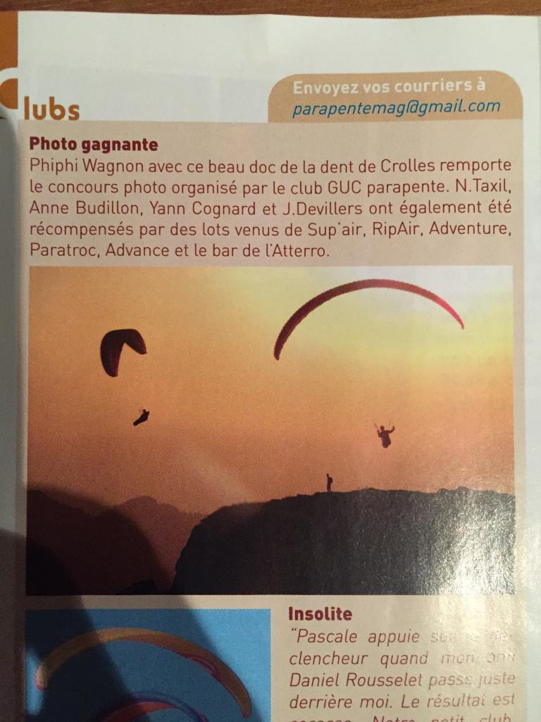 GUC Parution parapenteMag