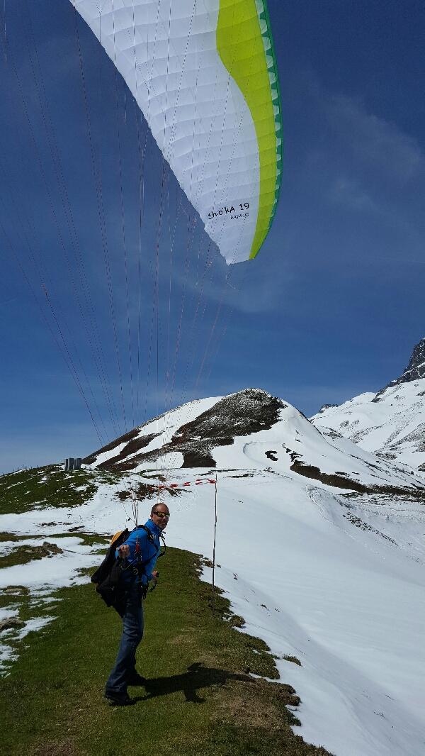 Petite rando en ski au glandon… on sort la voile obligé